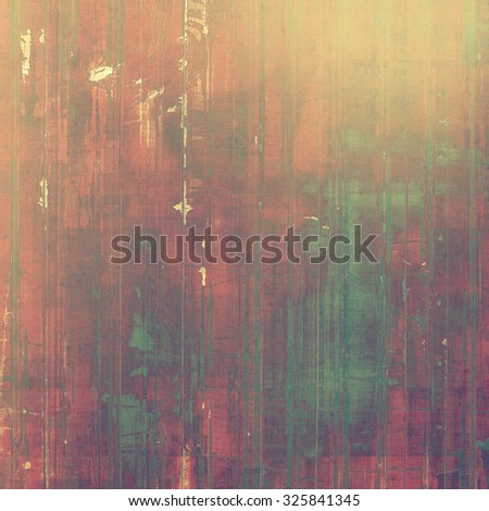 Vintage aged texture, colorful grunge background with space for text or image. With different color patterns: brown; green; red (orange); gray - stock photo