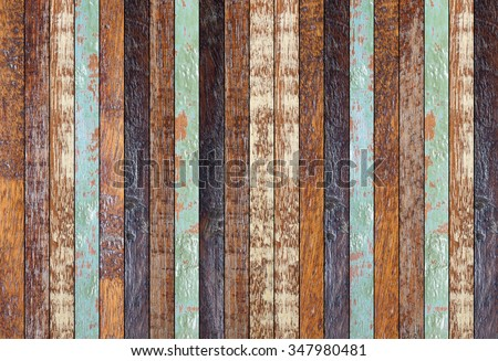 vintage aged wooden multicolor backgrounds texture:retro wooden panel walls backgrounds :rustic plank wood floorboards backdrop:glazed of pastel wood tiles for interior,design,decorate - stock photo