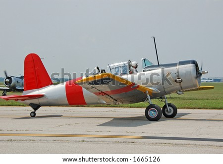 Vintage air force trainer airplane - stock photo