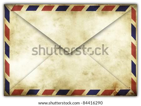Vintage airmail envelope - stock photo