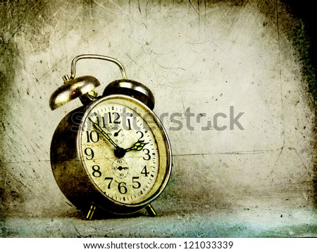 Vintage alarm clock - stock photo