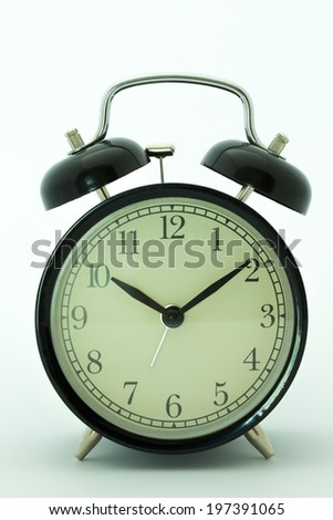 vintage alarm clock shooting in studio