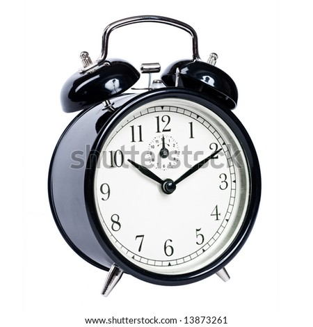 Vintage alarm clock with clipping path