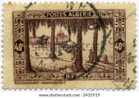 Vintage Algeria Postage Stamp World Ephemera