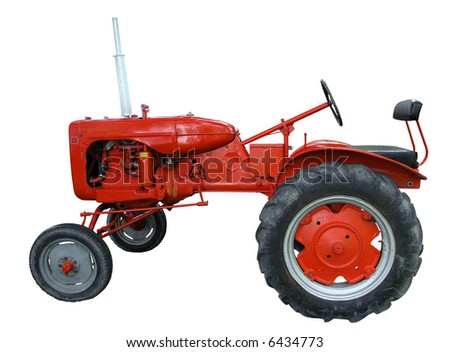 Vintage Allis Chalmers isolated with clipping path