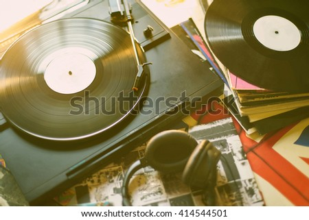 vintage ambiance music - stock photo