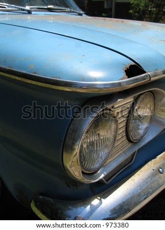 vintage american car - stock photo