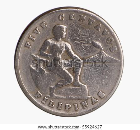 Vintage American Era Philippine Commonwealth Coins - stock photo