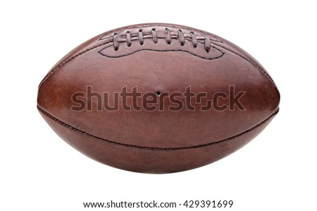 vintage american football ball isolated on white