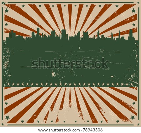 Vintage American Poster/ Illustration of a grunge american flag colors poster for holidays, fourth of july or independence day - stock photo