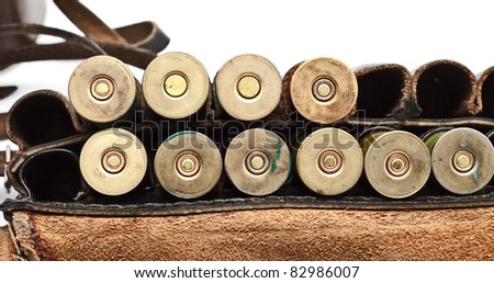 Vintage Ammunition Belt - stock photo