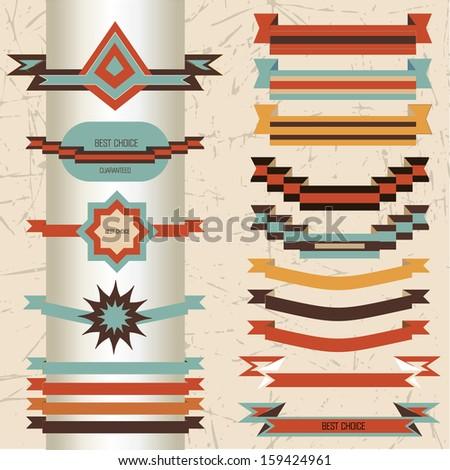 Vintage And Retro Design Elements - stock photo