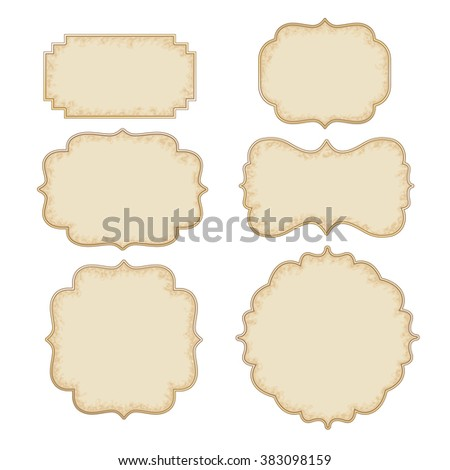 Vintage And Retro Design Elements, old papers, labels  - stock photo