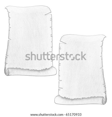 vintage antique ancient scroll - stock photo