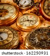 Vintage Antique pocket watch. - stock photo