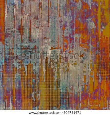 Vintage antique textured background. With different color patterns: brown; blue; red (orange); purple (violet) - stock photo