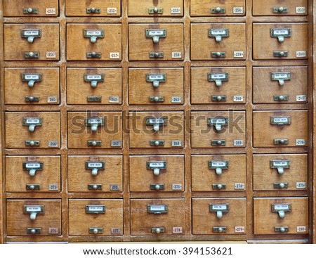 vintage archive wooden drawers pattern