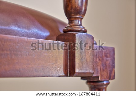 vintage armchair  detail - stock photo