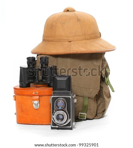 Vintage articles for travelers. - stock photo