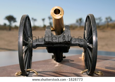 vintage Artillery piece - stock photo