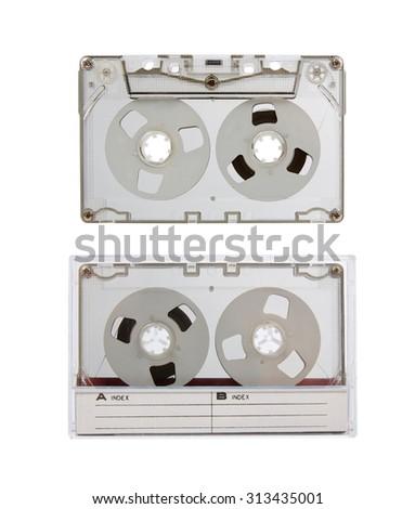 Vintage audio cassette. MC - stock photo
