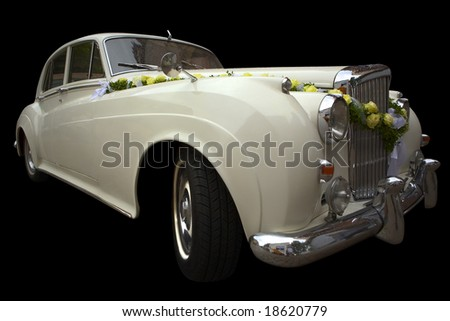 Vintage automobile as used for luxurious wedding transport