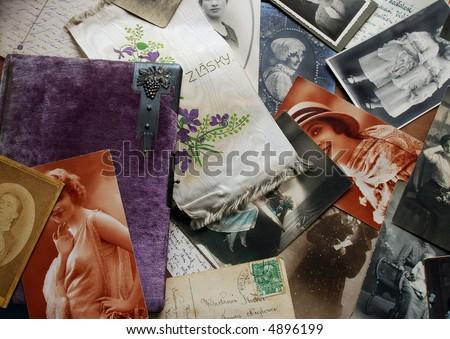Vintage background - stock photo