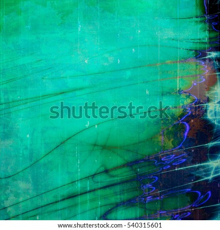 Vintage background, antique grunge backdrop or scratched texture with different color patterns: yellow (beige); brown; green; blue; purple (violet); cyan