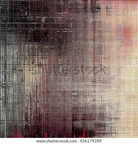Vintage background - dirty ancient texture. Antique grunge backdrop with different color patterns: yellow (beige); brown; gray; red (orange); pink; black - stock photo