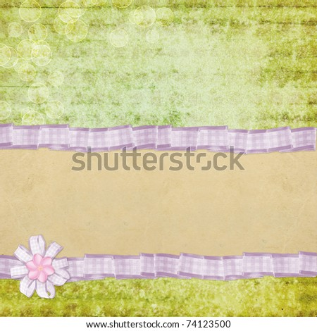 Vintage background  for invitation - stock photo