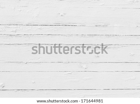 Vintage background from closeup of white wooden plank - stock photo