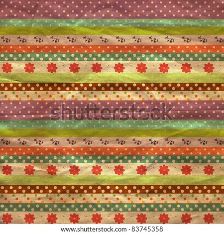vintage background from grunge paper, texture with retro pattern - stock photo
