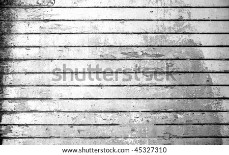 Vintage background from obsolete black and white grunge wooden plank - stock photo