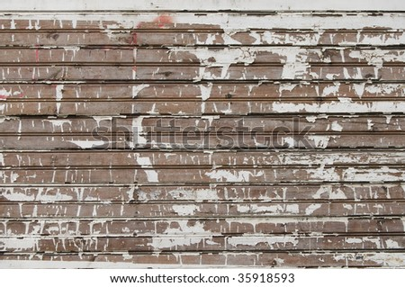 Vintage background from weathered wooden shingle - stock photo