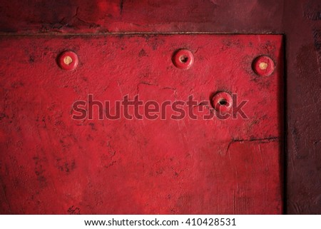 Vintage background of red grungy texture. - stock photo