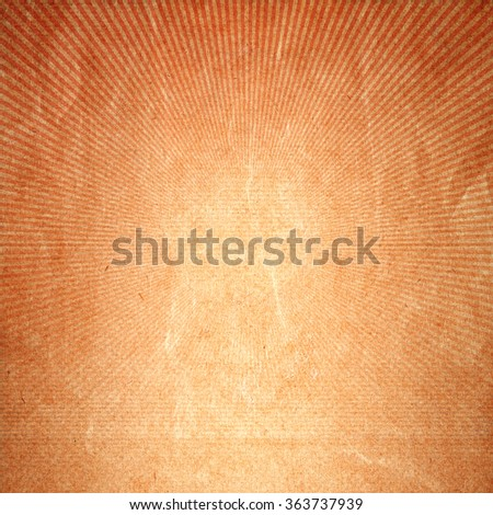 Vintage background of red sun beam - retro paper be crumpled - stock photo