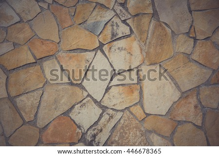 Vintage background of stone wall. - stock photo