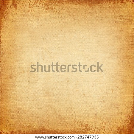 Vintage background, old canvas texture - stock photo
