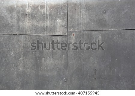 vintage background old painted metal texture with traces of rust - stock photo