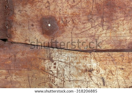 vintage background old painted metal texture with traces of rust and cracks