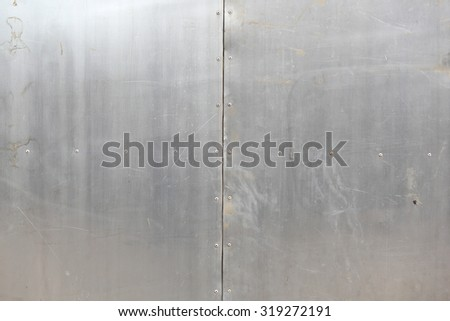 vintage background old painted metal texture with traces of rust and cracks - stock photo
