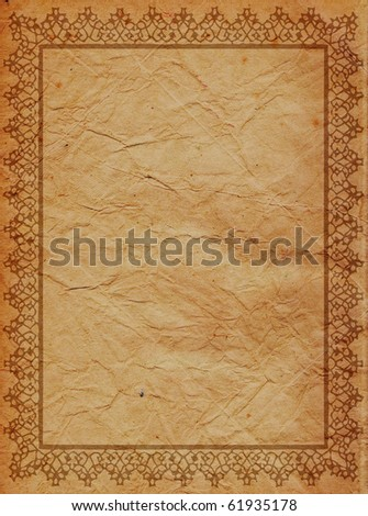 vintage background old paper - stock photo
