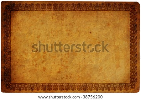 vintage background old paper isolated on white background