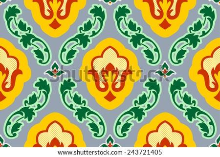 Vintage background. Old pattern vector. Floral Pattern - stock photo