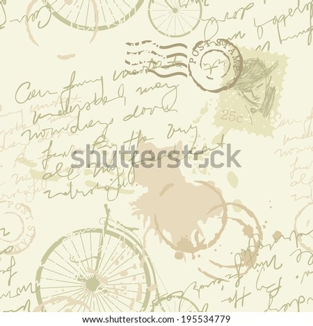Vintage background or seamless pattern - stock photo