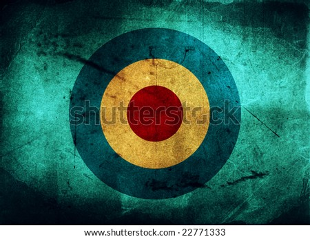 Vintage background - paper - target concept - stock photo