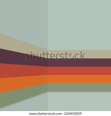 Vintage background retro color themed stripes pattern  - stock photo