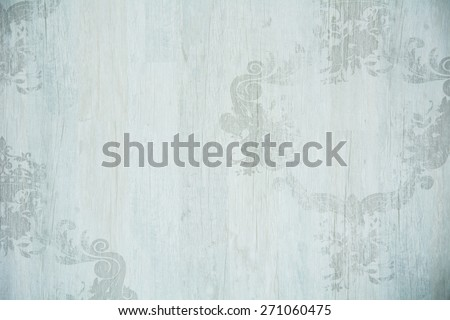 Vintage background structure of the tree with ornaments and a bluish tinge. - stock photo