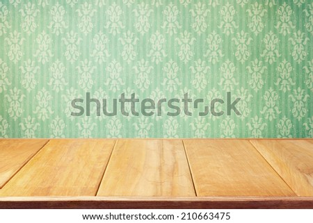 Vintage background with classic wallpaper - stock photo