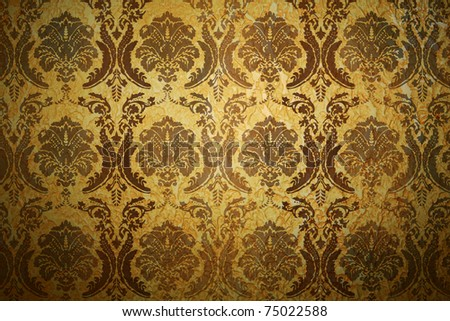 vintage background with classy patterns - stock photo